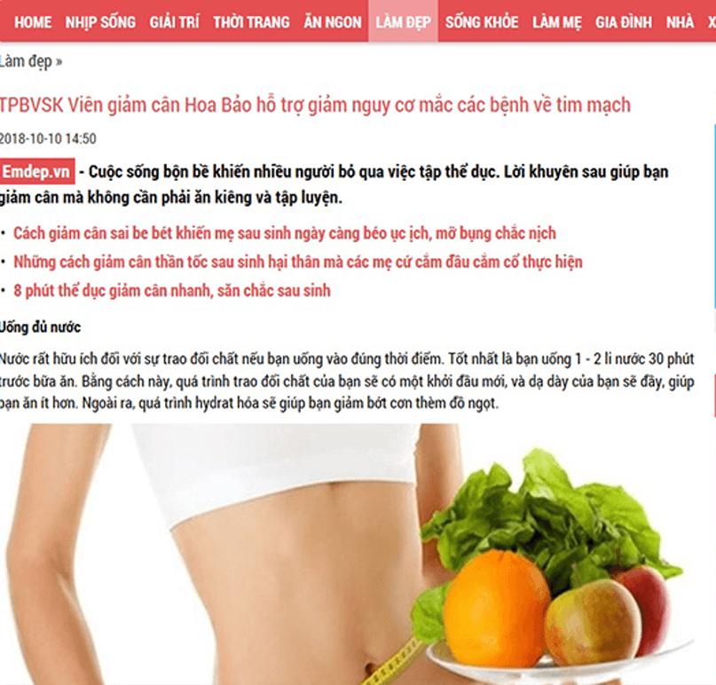 Thực hư tác dụng của viên giảm cân Hoa Bảo 7