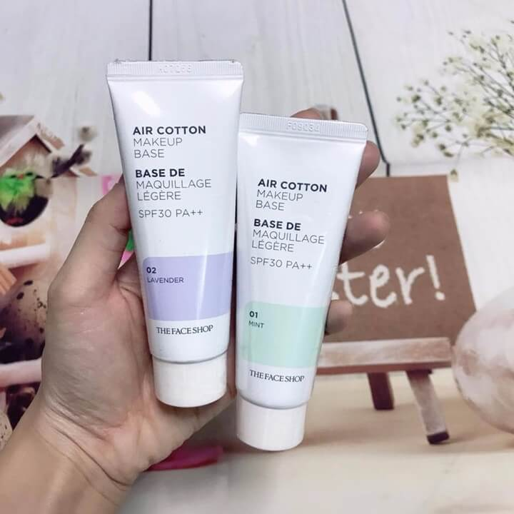 Kem Lót The Face Shop Air Cotton Makeup Base