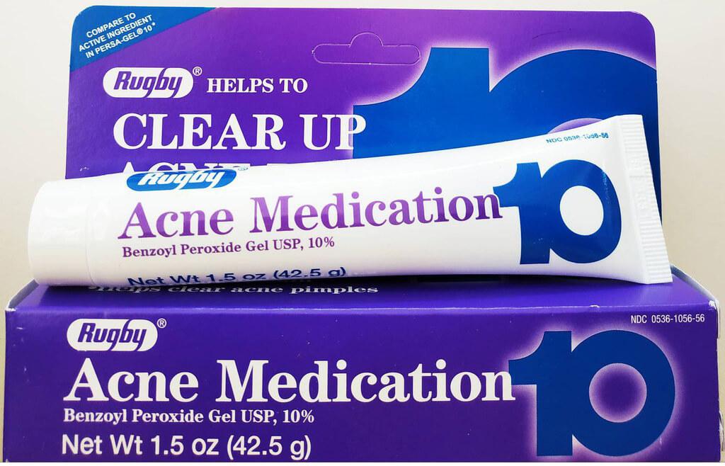 Rugby Acne Medication Gel Benzoyl Peroxide