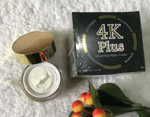 4k plus whitening night cream