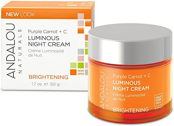 Andalou Purple Carrot + C Luminous Night Cream Brightening 50g
